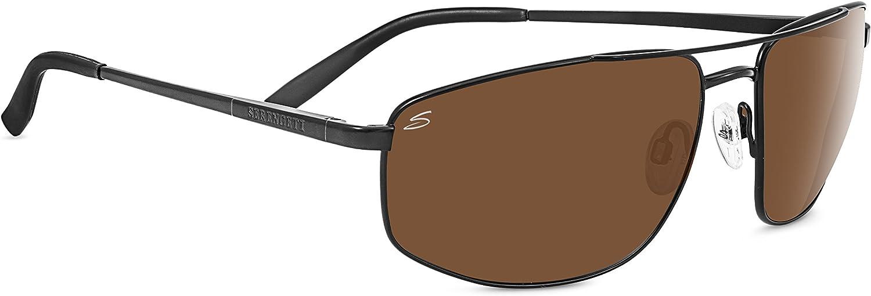 Serengeti Modugno Polarized Driver Sunglasses, Satin Black