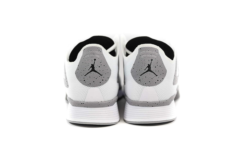 detailed look 2619a c1a5d Amazon.com   Jordan Nike 89 Racer White Black Cement Grey AQ3747 100    Basketball