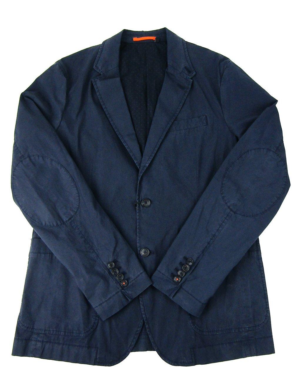 Jack Spade Men's Poplin Travel Blazer (Dark Navy, 40)