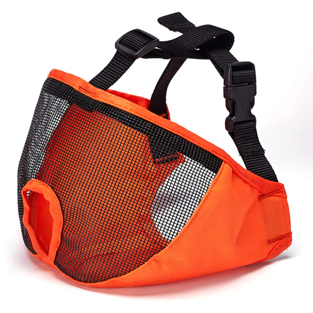 Korx Dog Muzzle Pet Mouth Cover Breathable Mesh Mask Anti Biting Chewing and Barking Muzzles for Short Snout Dog