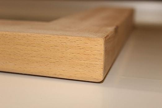 Mamperlán madera maciza Haya para peldaño y escalera (Esquina Derecha): Amazon.es: Bricolaje y herramientas