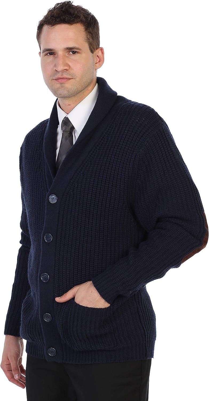 Gioberti Mens Shawl Collar Knitted Regular Fit Cardigan