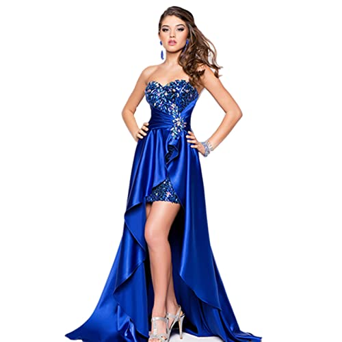 atopdress LL3 High Low A-line Evening ball party Prom sequined gown dresses