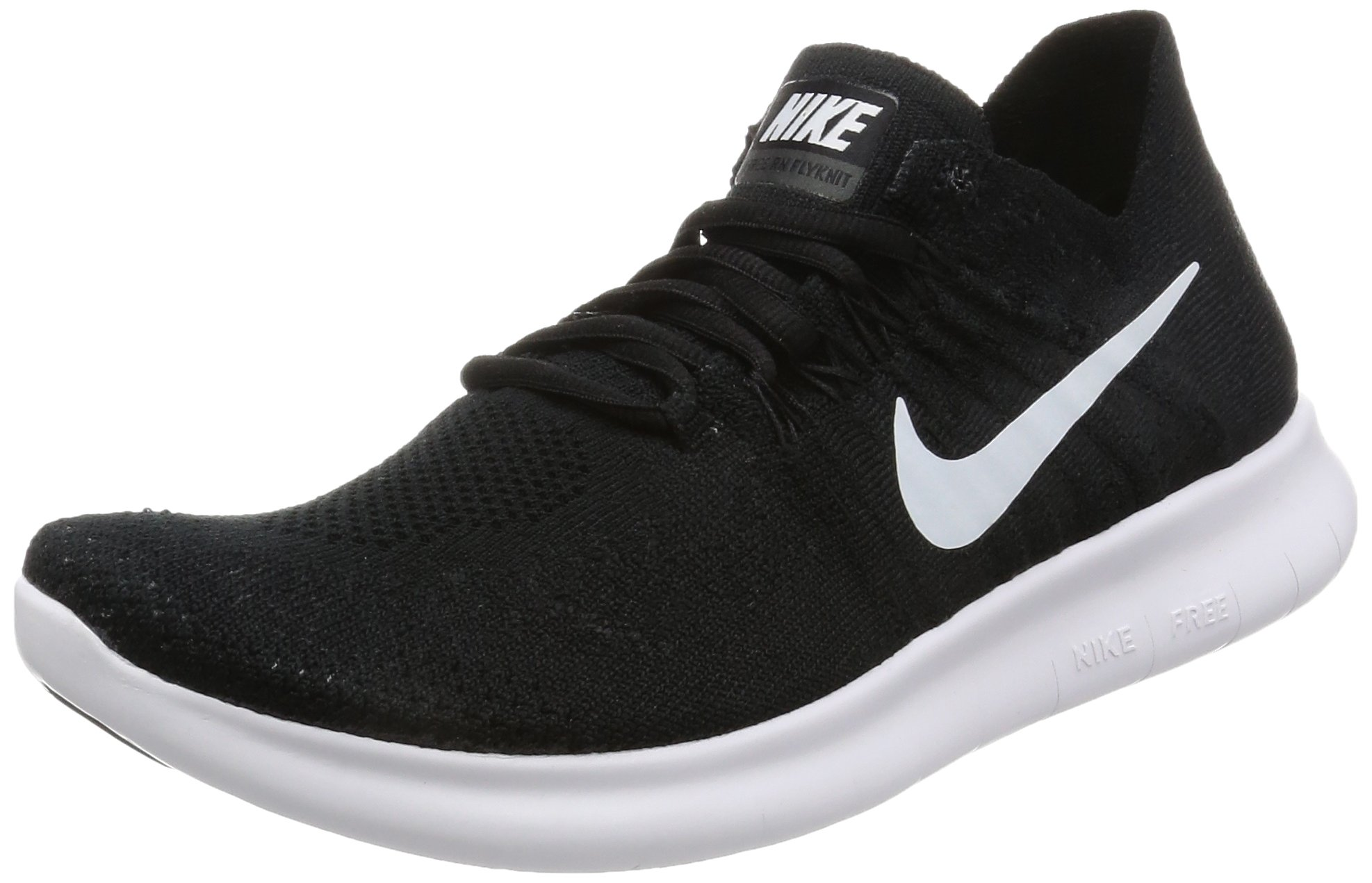 7d395520464c2 Galleon - Nike Women s Free Rn Flyknit 2017 Black White Black Running Shoe  (8.5)