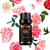 Aromatherapy Essential Oils, 100% Pure Essential Oils Rose Scent for Diffuser, Humidifier, Massage, Aromatherapy, Skin & Hair Care, Rose Aromatherapy Essential Oils 0.33 oz - 10ml