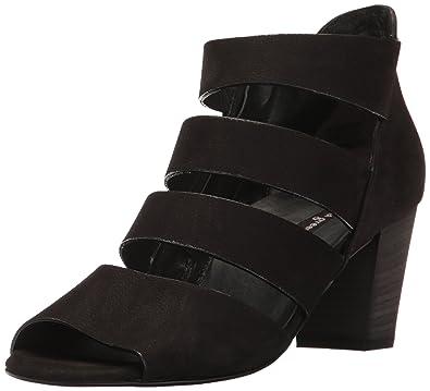 f05fc100d Paul Green Women s Michele Heel Heeled Sandal Black Sport Nubuck 5.5 Medium  US