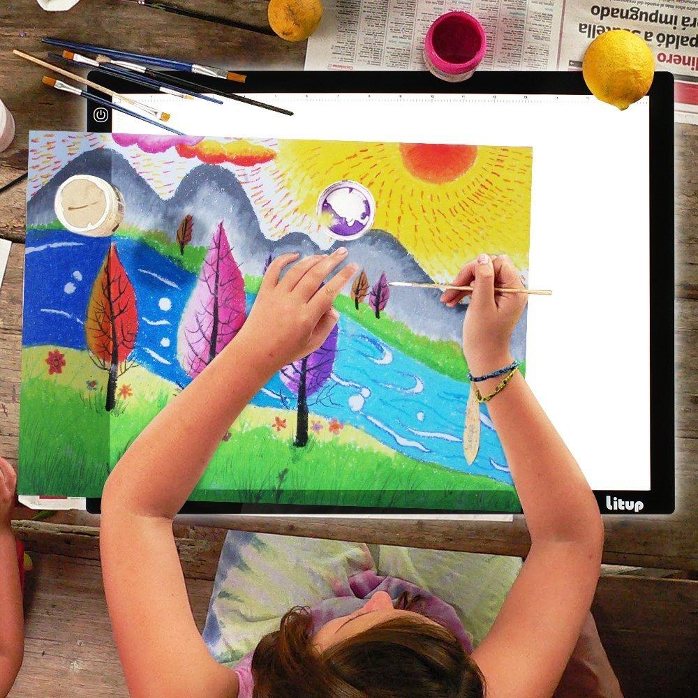 Litup LP3 A3 Light Box 18.86×14.21 Inch Light Pad Tracing Light Box Light Table Drawing Light Board for Art Animation Sketching -LP3 by Litup
