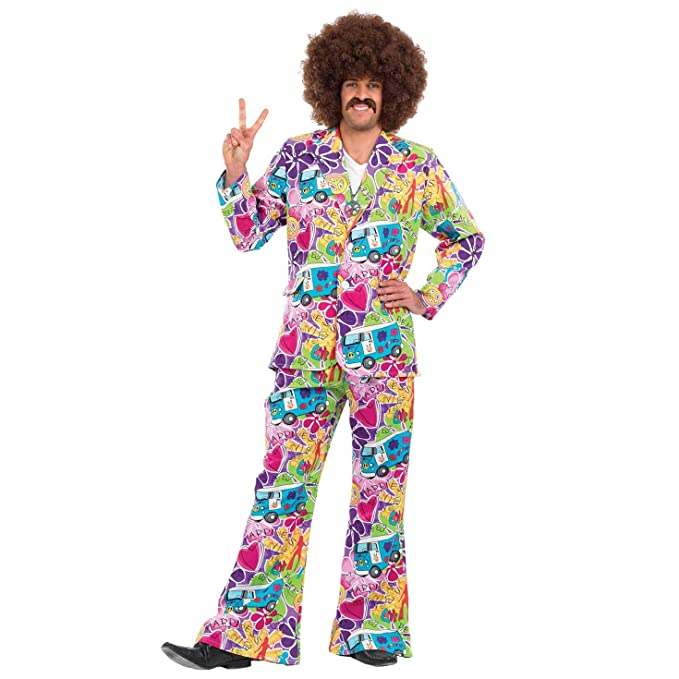 70s Costumes: Disco Costumes, Hippie Outfits Fun Shack FN3329M Costume Mens Campervan Suit Medium £35.88 AT vintagedancer.com