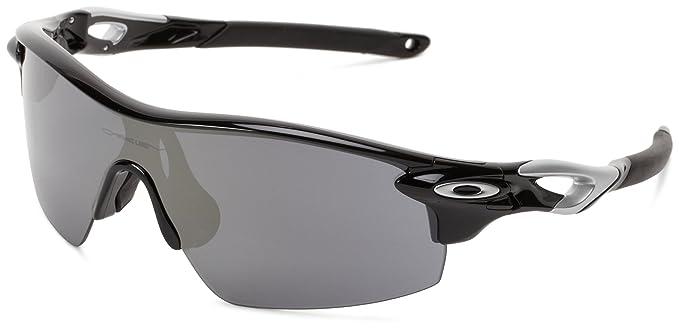 d36815b4c365 Oakley Radarlock OO9182-10 Iridium Sport Sunglasses,Polished Black/Black  Iridium & VR28