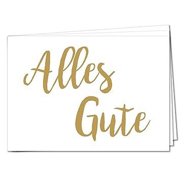 Tysk Design Postkarten Alles Gute 10 Postkarten Gold Karte Deko