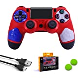 Dainslef Wireless Game Controller for Ps4/Ps4 Pro/Ps4 Silm, Two Motors Bluetooth Gamepad for Playstation 4, Package Include A