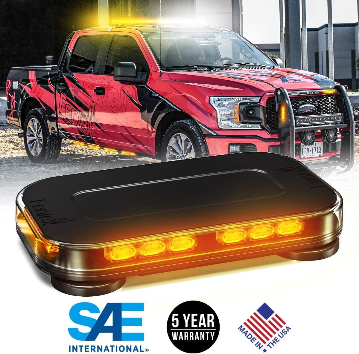 "FENIEX GEO Series 14"" LED Mini Light Bar - [SAE Class 1] [Made in USA] [5 Year Warranty] (Amber)"