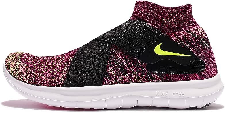Nike Mujer Free Rn Movimiento FK 2017 Negro / Volt Racer Rosa Blanco Zapatillas Running 880846 004 (UK 6.5 Eur 40.5 Us 9): Amazon.es: Zapatos y complementos