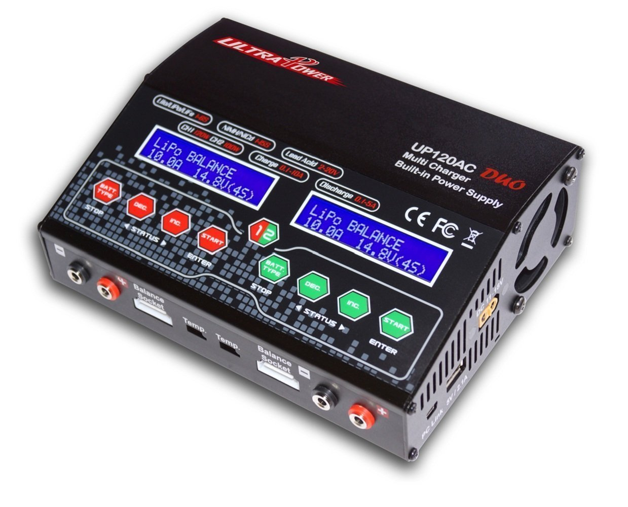 Crazepony UP-120AC 240W Dual Balance Charger AC DC for LiPo LiHV LiIon LiFe NiCd NiMh Pb RC Battery Built-in Power Supply