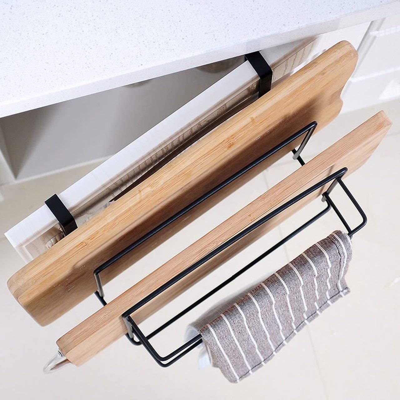 Heaviesk T Perforaci/ón libre colgar en la pared tabla de cortar estante estante gabinete tablero estante de almacenamiento cocina estante tablero de estante estante