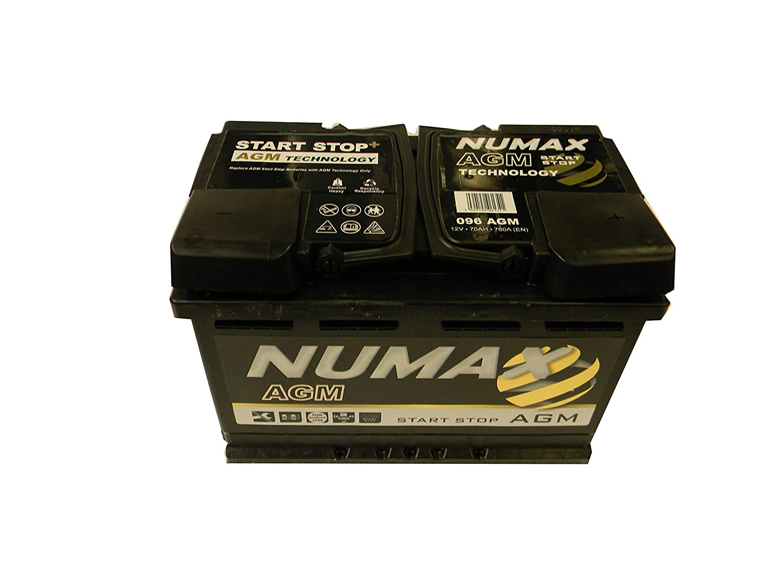 EN Numax Batterie Voitures Supreme AGM 096AGM L3 12V 70AH 760 AMPS