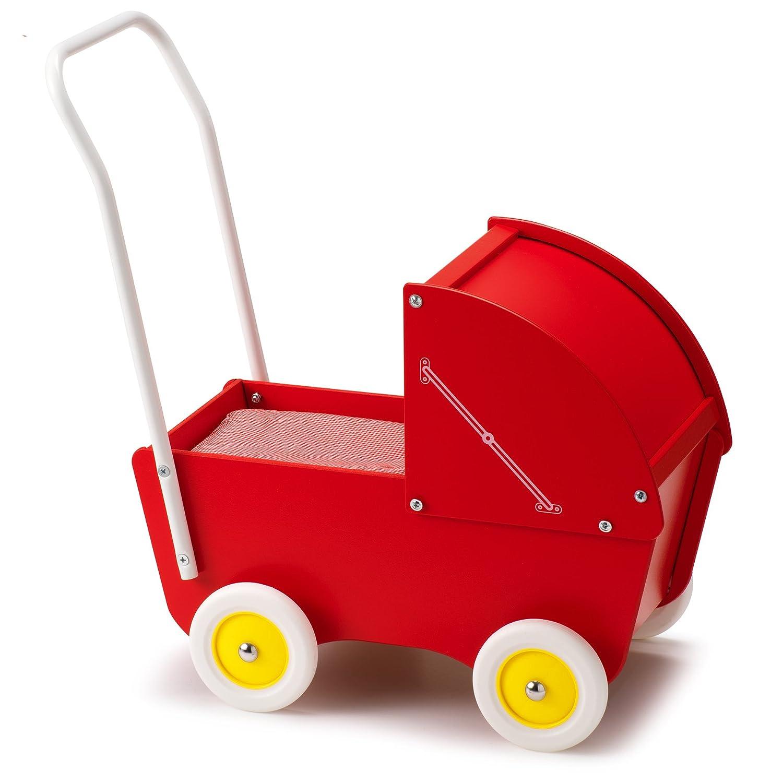 Micki Doll's Pram with Hood (Red) Micki Leksaker 10201700 Vehicles & Boats