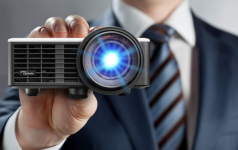 Optoma ML750ST 800lúmenes ANSI DLP WXGA (1280x720) 3D Portable projector Negro - Proyector (635-5080 mm (25-200