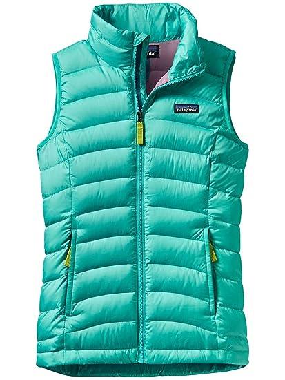 6848064aa Patagonia Girls Down Sweater Vest Strait Blue Girls M: Amazon.ca ...