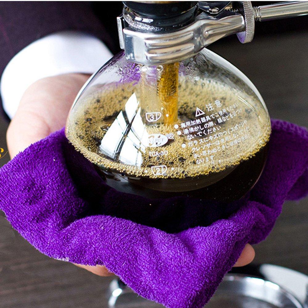 TAMUME 5 Tazas Cafetera Sif/ón Fabricante Aspiradora Cafetera para la Elaboraci/ón de la Cerveza Caf/é y T/é con la Manija Extendida 5 Tazas