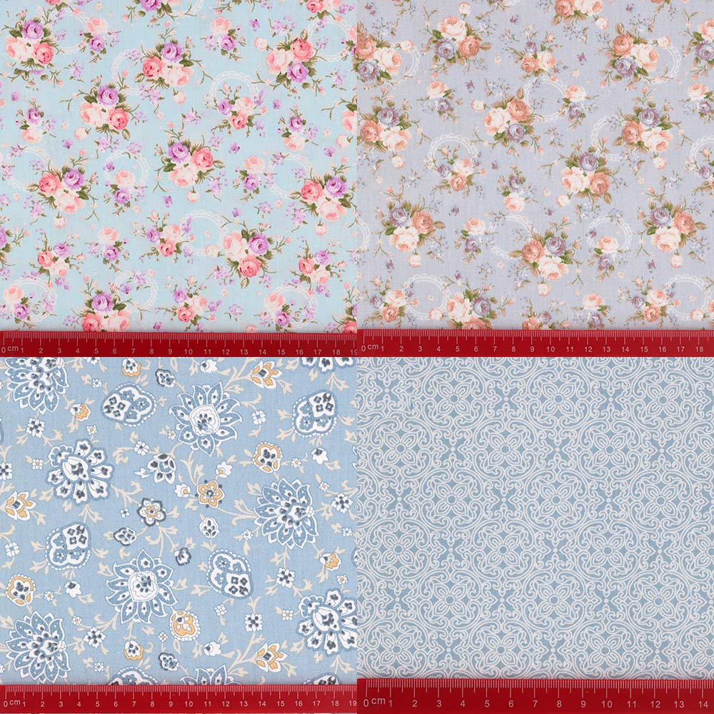 Vintage Floral Fat Quarters Fabric Bundles, Precut Quilting Fabric for Sewing,18''x22'' by Hanjunzhao (Image #3)