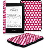 Fintie Kindle Paperwhite Custodia - Case Cover Custodia Ultra Sottile per Amazon Nuovo Kindle Paperwhite (Adatto Tutte le versioni: 2012, 2013, 2014 e 2015 Nuovo 300 ppi), Polka Dot