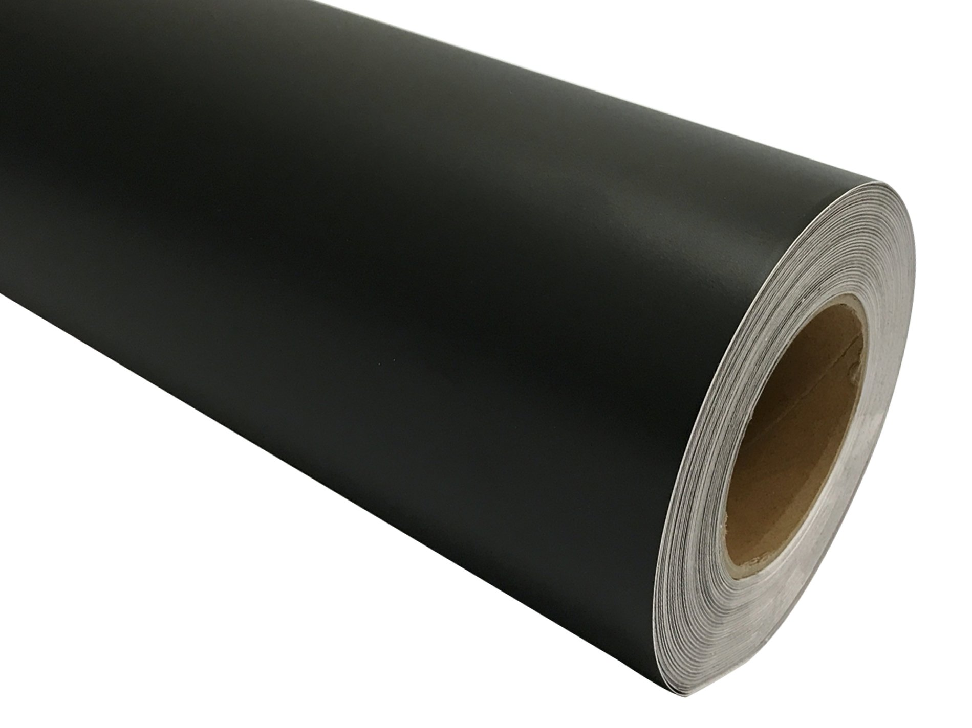12'' x 150 ft (50YD) Roll of Matte Black Repositionable Adhesive-Backed Vinyl for Craft Cutters, Punches and Vinyl Sign Cutters
