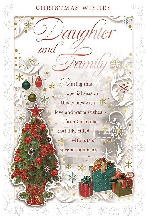 Cards Galore Online Tarjeta de Navidad para Hija y Familia ...