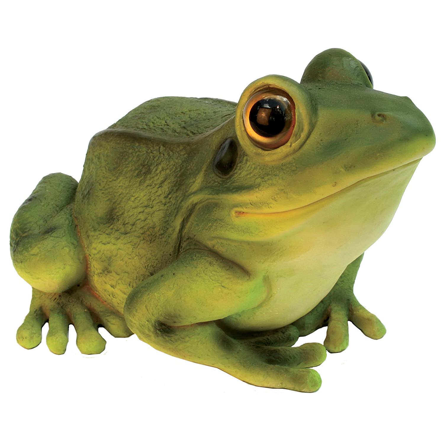 Michael Carr Designs 508002BG Green Frog Outdoor Statue (Discontinued by Manufacturer)