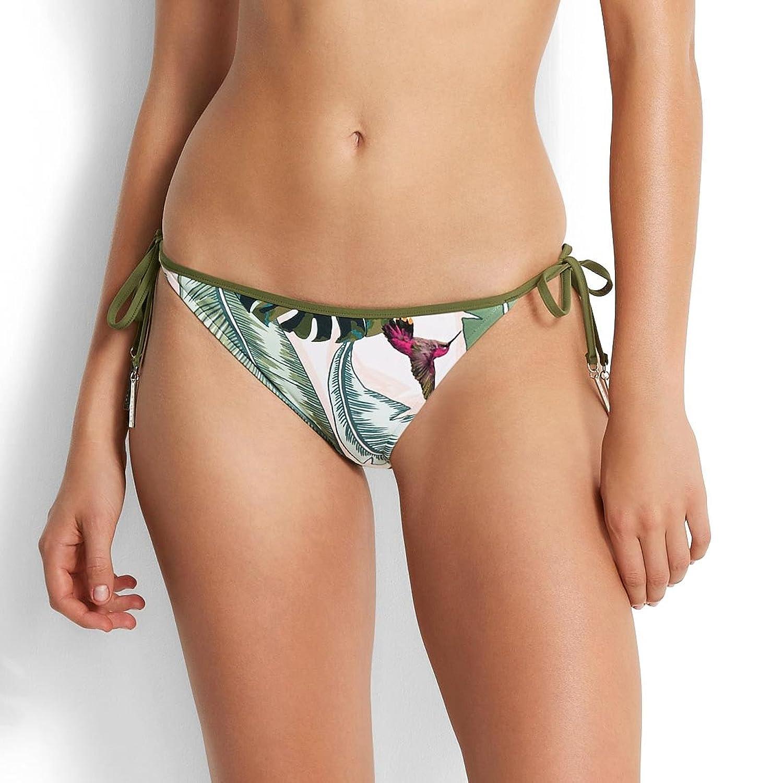 Seafolly Damen Bikinihose Brazilian Tie Side Palm Beach 40172-168