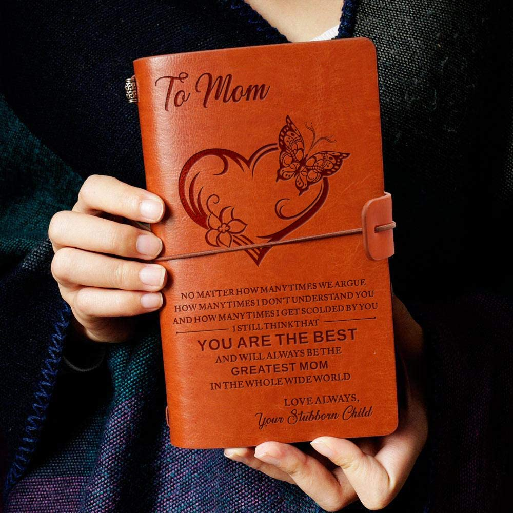 Engraved Leather Notebook - To Mom You Are The Best And Will Always Be The Greatest Mom