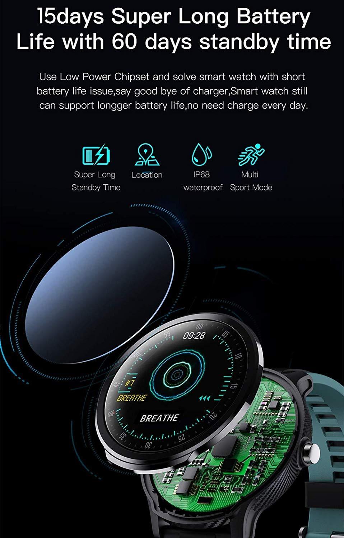 Bbiao Reloj deportivo Reloj inteligente Bluetooth Ip68 Modo ...