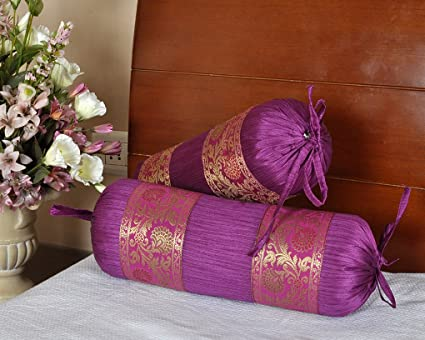 pillow cylindrical cushion of set cushions yellow dyed pillows yarn buy covers large solid polydupion bolster pcs cover