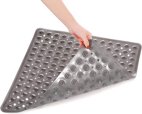 PLASTIC DRAIN HOLES NON-SLIP BATHROOM KITCHEN SHOWER MAT SQUARE FLOOR PAD SUPER