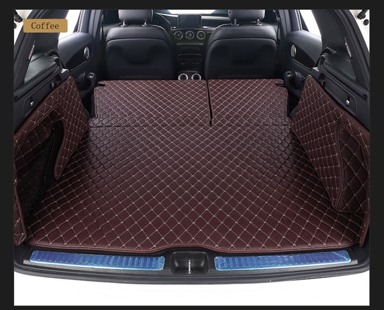 Worth-Mats 3D Full Coverage Waterproof Car Trunk Mat for BMW X1 2016-2019 -Coffee