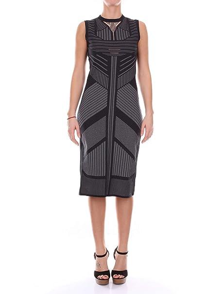 classic fit 8a7b7 0cafb Prada 235751QCK Vestiti Donna Nero e Grigio 42: Amazon.it ...