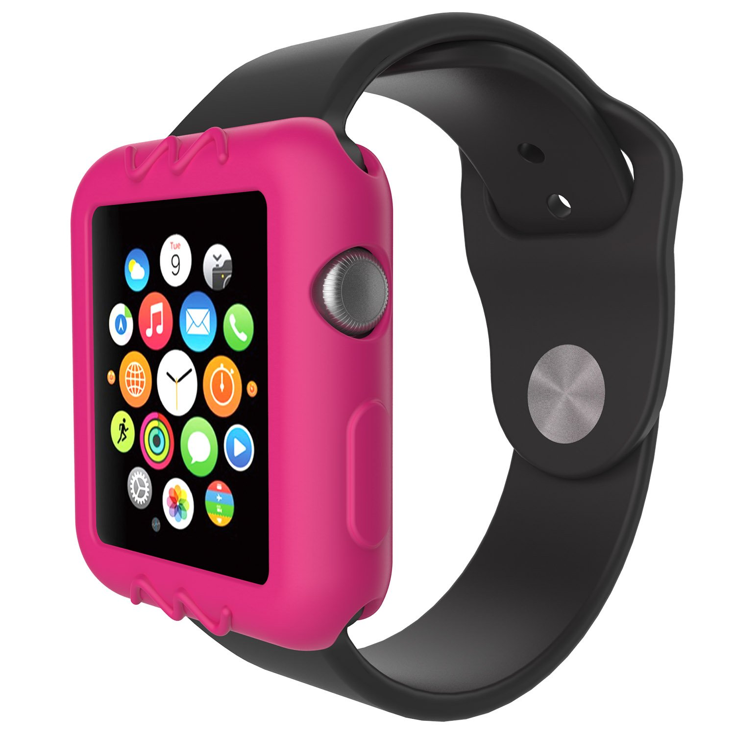 For Apple Watch 42mm Protective Case, 10x Replacement Silicone Soft Case Cover for Apple Watch Series 3 2 1 Smartwatch, 10pcs by E ECSEM (Image #5)