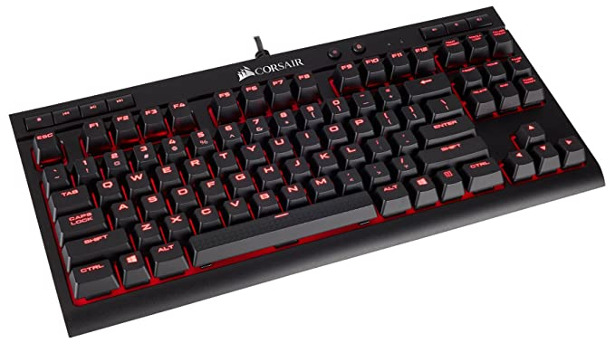 Amazon.com: CORSAIR K63 Compact Mechanical Gaming Keyboard - Backlit Red LET - Linear & Quiet and CORSAIR Void PRO RGB Wireless Gaming Headset - Dolby 7.1 ...