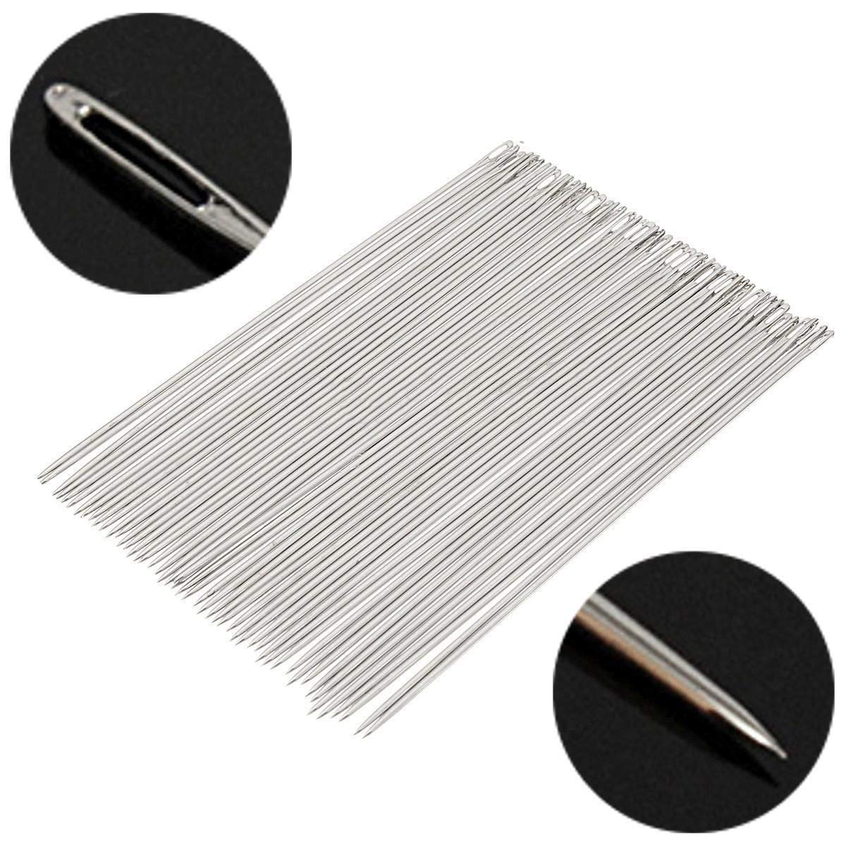 LTKJ 50Pcs Long Sculpting Needles Large Eye Needle for Sewing Crafts 6 Inch