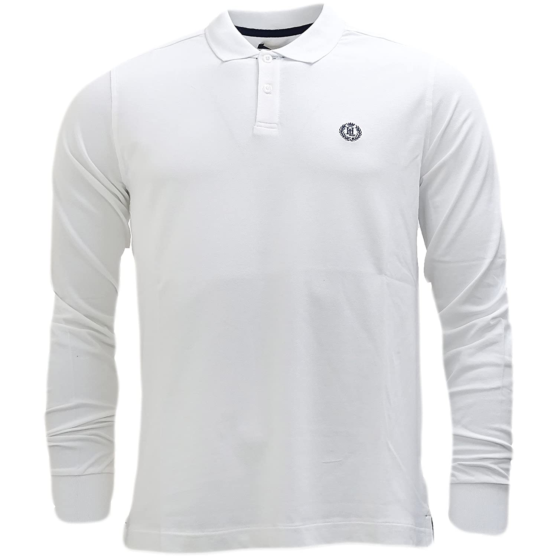 d1c5b1b7d Henri Lloyd Navy Musberry Long Sleeve Polo Shirt - Small  Amazon.co.uk   Clothing