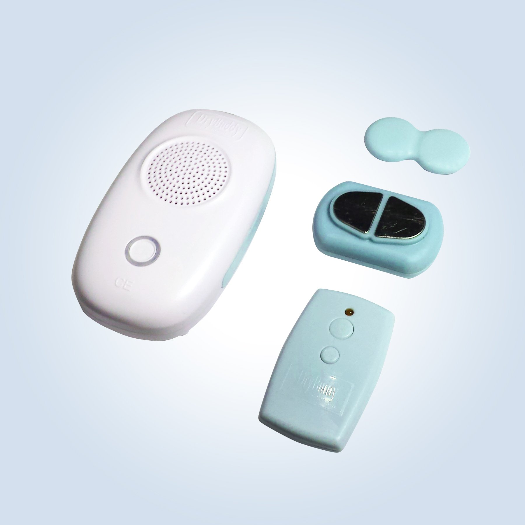 DryBuddyFLEX 3 New 3rd Gen. Long-Range True Wireless Bedwetting Alarm System. Magnetic Sensor & Remote. Extremely Convenient, Easy-to-Use, Feature-Rich, Customizable. Specials Needs Friendly.