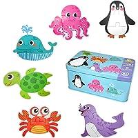 EKKONG Puzzles de Madera ,Animales Rompecabezas ,Juguetes Bebes, Puzzles de Madera Educativos para Bebé, Juguetes niños…