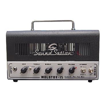 Soundsation - Cabecero amplificador para guitarra eléctrica 15 W: Amazon.es: Instrumentos musicales