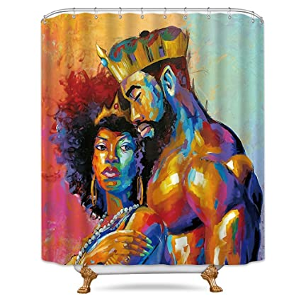 Amazoncom Cdcurtain King African American Lovers Couple Shower
