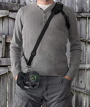 Camera Strap,Ocim Camera Sling Strap with Quick Release Plate, Adjustable and Comfortable Neck/Shoulder Belt for DSLR/SLR Camera (Nikon, Canon, Sony) Universal Belt (Color: Black shoulder strap, Tamaño: Shoulder Strap)