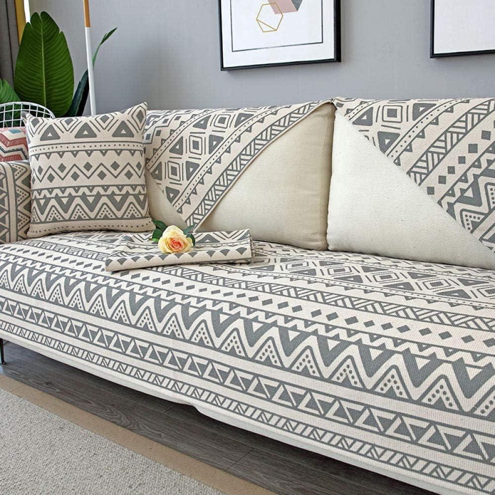 YUTJK Living Room Sofa Seat Covers,Protector Moderno para el Protector del sofá,Fundas para el sofá Fundas de Cojines para el sofá de Lino de algodón,Funda de sofá Transpirable de Estilo étnico to