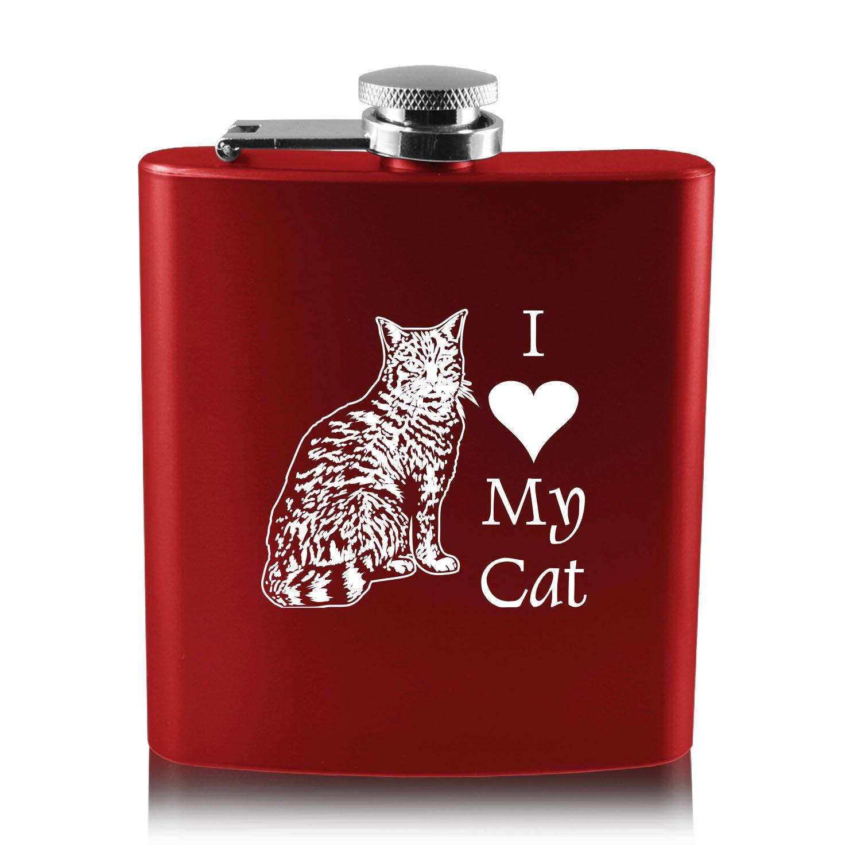 【年中無休】 6オンスステンレス鋼フラスコ My – I I Love cat-red My cat-red B013RU47HQ, ショップ NIC家電:442f4997 --- oil.xienttechnologies.net