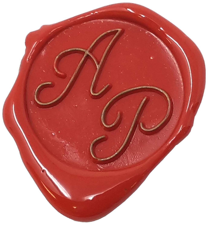 Eine tolle Geschenkidee um etwas pers/önliches zu schenken 2 Initialen 24 mm Siegelset in wundersch/öner Geschenkdose Schriftart Italic