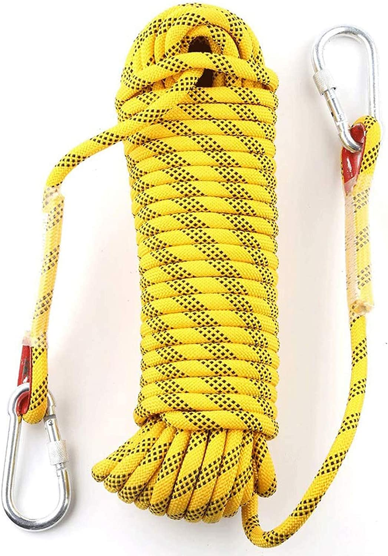 YJHH Cuerda para Escalada 10mm 50m, Cuerda De Paracaídas ...