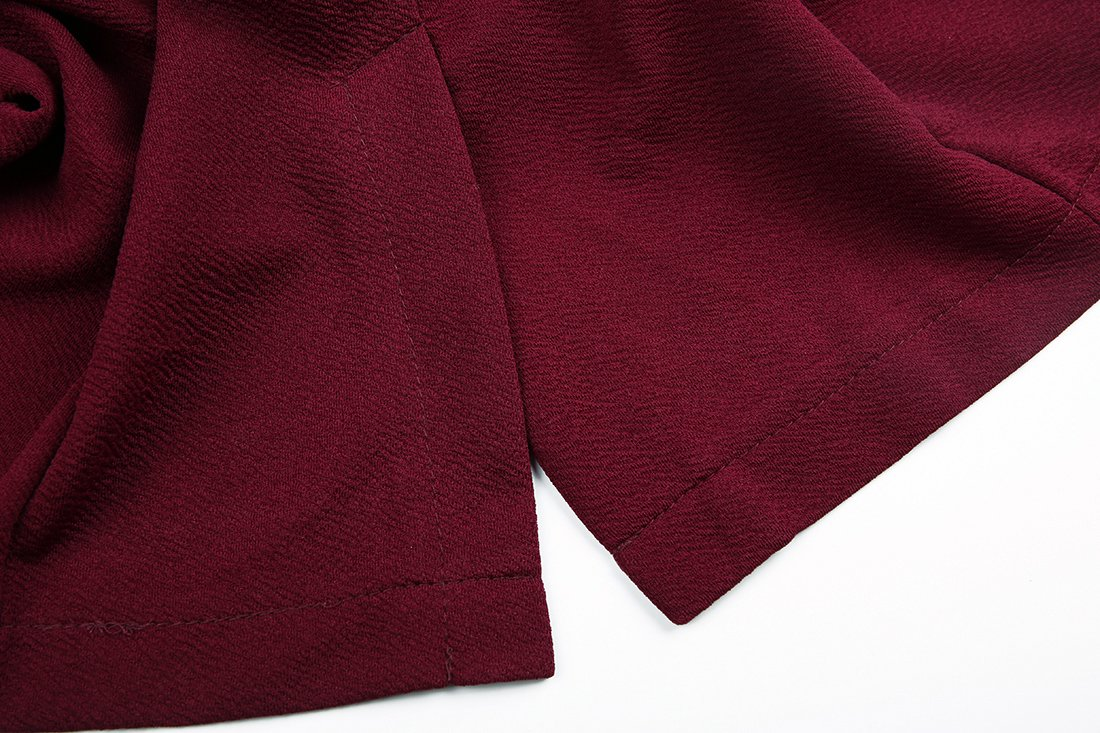 sanatty Women's 3/4 Ruched Sleeve Open Front Lightweight Work Office Blazer Jacket,Winered,Small by sanatty (Image #4)